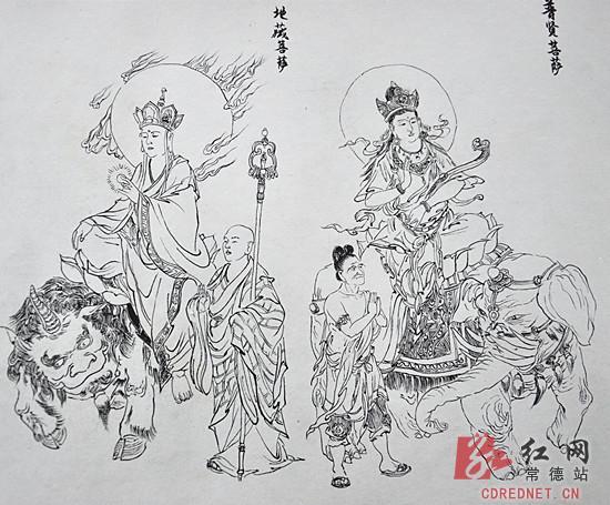 [常德]90后学生画35米长西游记人物图谱